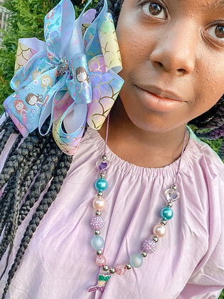 Mermaid Bow & Necklace Set