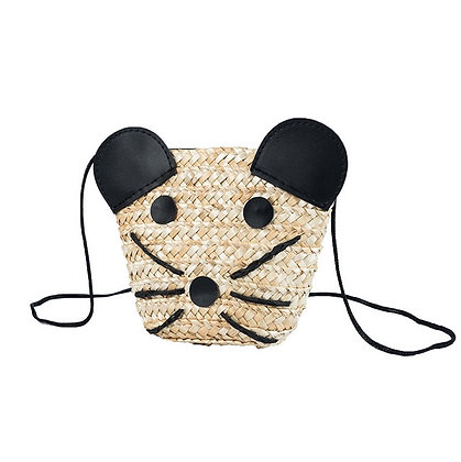 My Straw Cat Purse