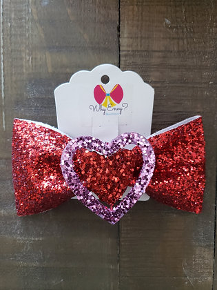 My Glitter Heart Bow