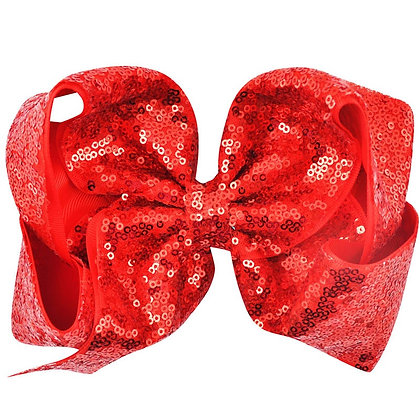 Red Sequins Bow