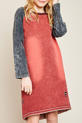 Distressed Acid Tunic/Dress