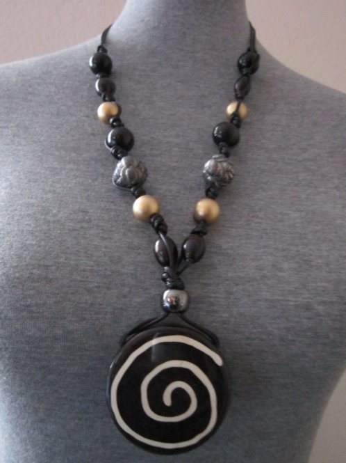 Long Tribal Style Necklace