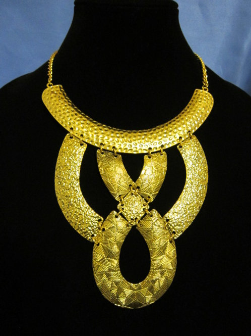 Gold Hammered Mix Necklace