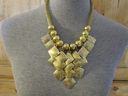 Antique Goldtone Necklace