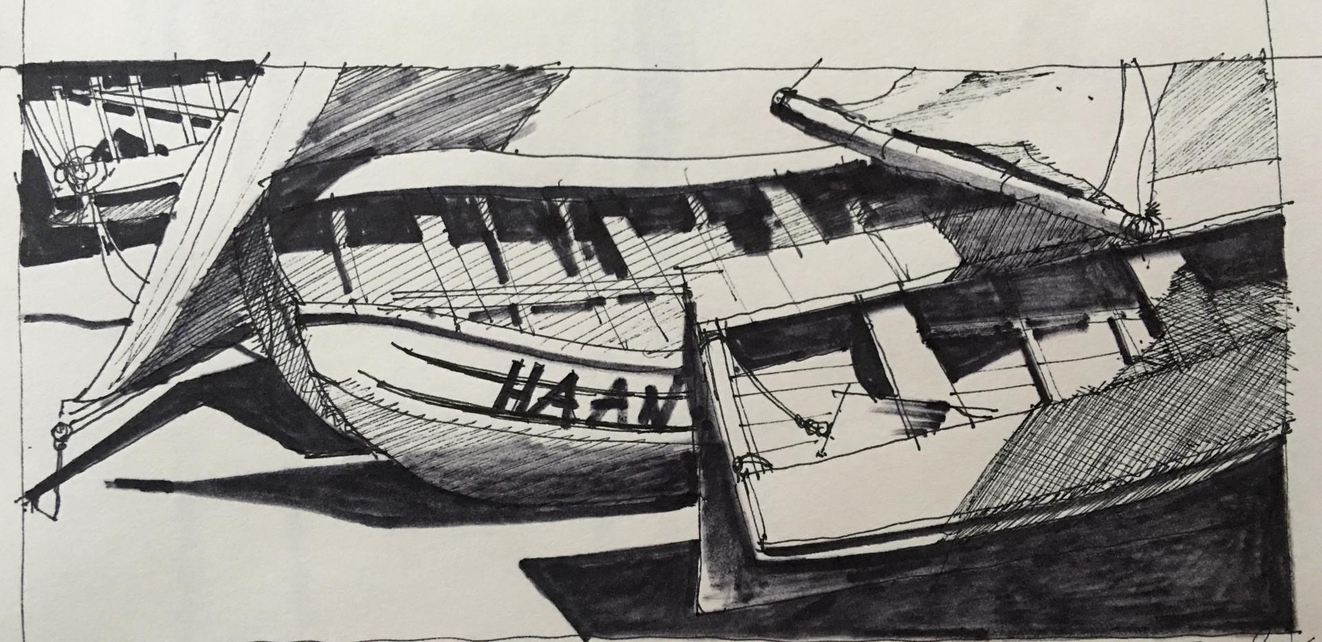 Wood Boat Center #1