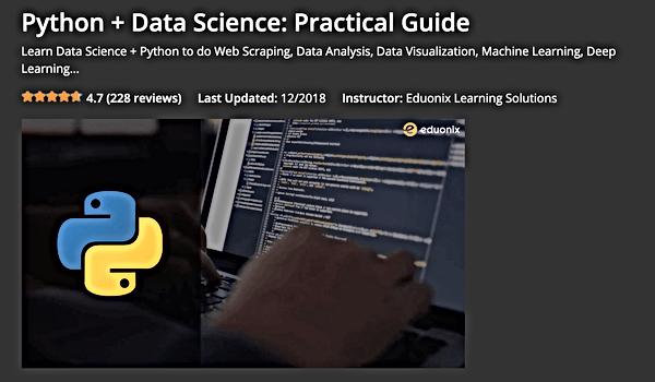 Edounix Data science path Python coursse