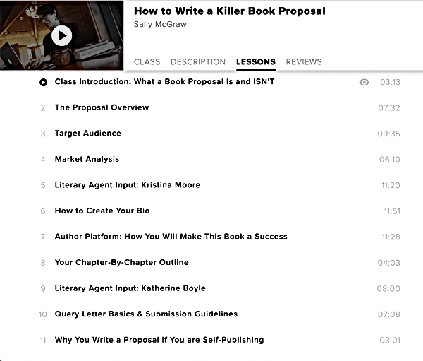 How to write a killer book proposal Sall
