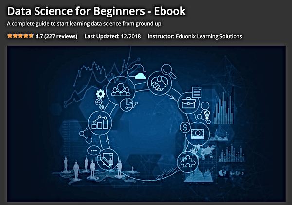 Data science for beginners Eduonix overv