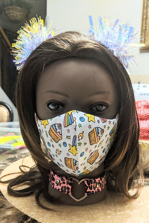 Cupcake and Stars Mask