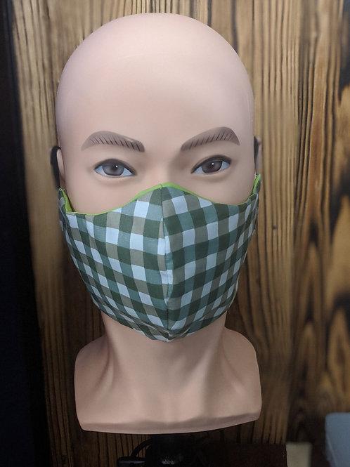 Green & White Checkered Mask