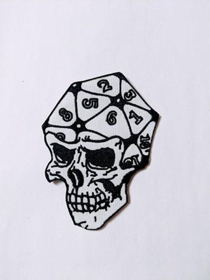 D20 Skull Patch