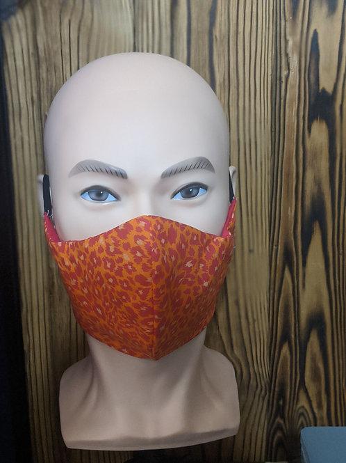 Orange Cheetah Mask
