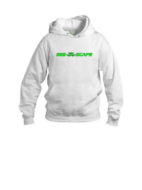 White See-Scape Hoodie