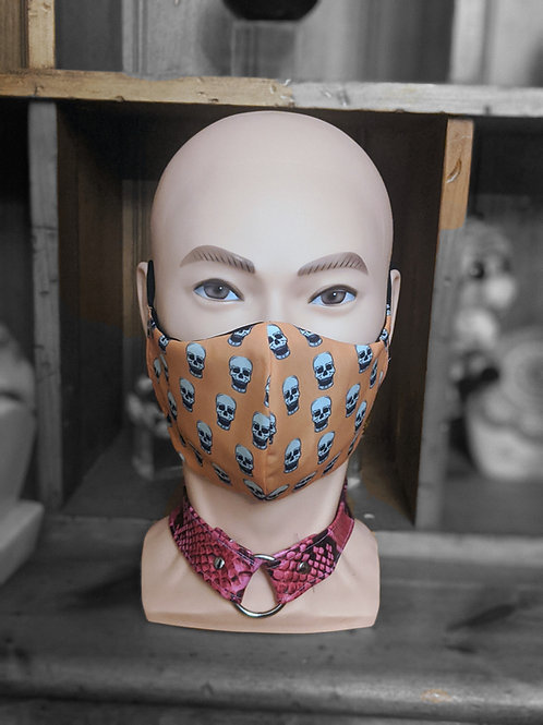Orange Skull Mask