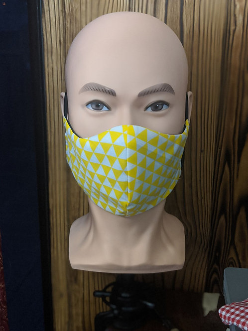 Yellow and White Mask