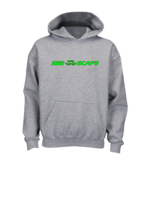 Grey See-Scape Hoodie