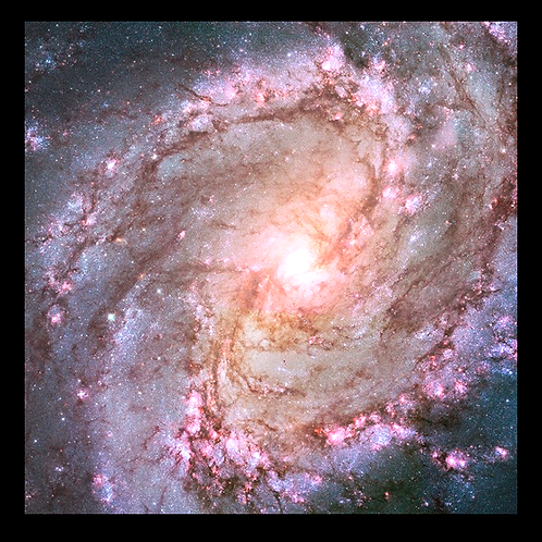 Spiral Galaxy - Hubble Photo in LED Backlit Frame