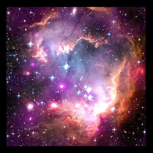 Magellanic Cloud Hubble Photo in LED Backlit Frame