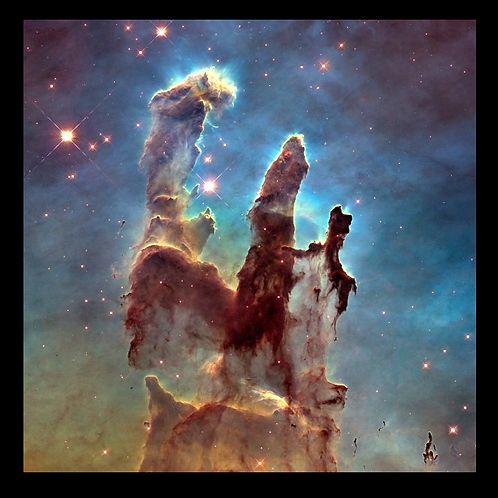 Eagle Nebula - Hubble Photo in LED Backlit Frame