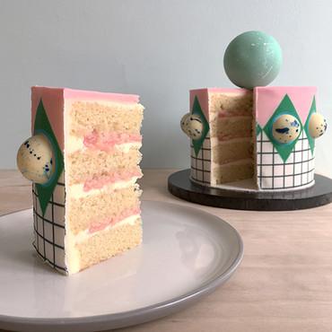 Pink Harlequin Cake