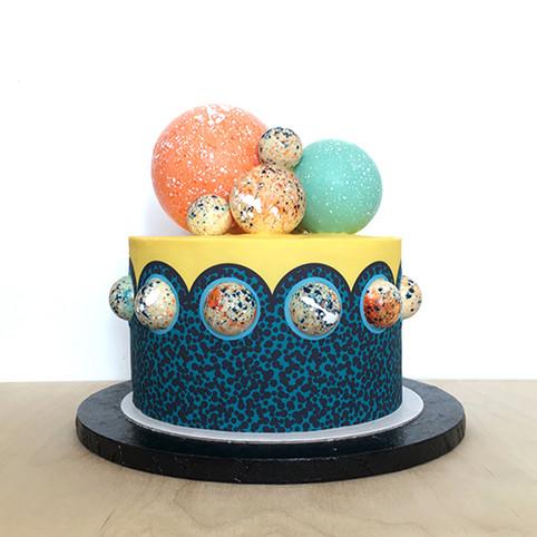 Yellow Bubble Cake