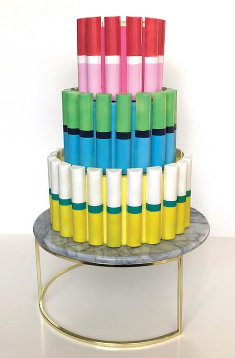 Colour Blocked Chocolate Cake