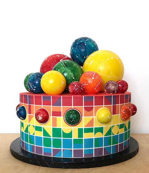 Rainbow Puzzle Cake