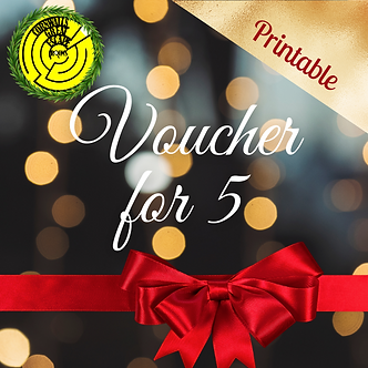 Gift Voucher for 5 - Printable