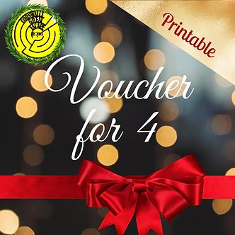 Gift Voucher for 4- Printable