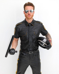 Leather Cop