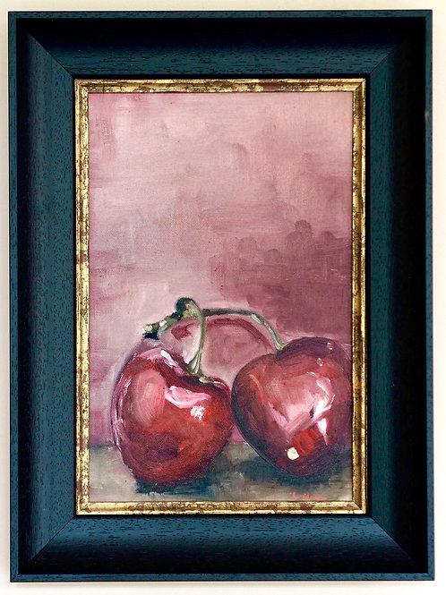 Original Oil Painting - Cherries