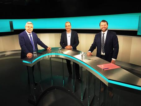Hartes Duell auf dem Regionalsender Tele 1