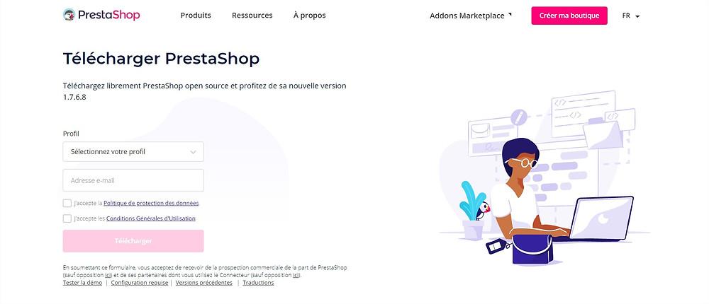 création site e-commerce prestashop