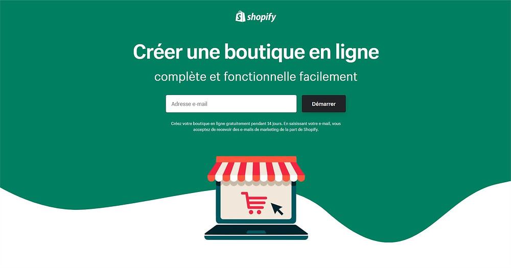 création site e-commerce shopify