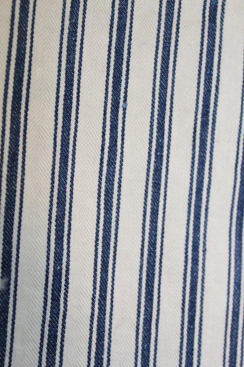 """Vintage Antique Ticking Material Fabric 60"""" wide and 142"""" long"""
