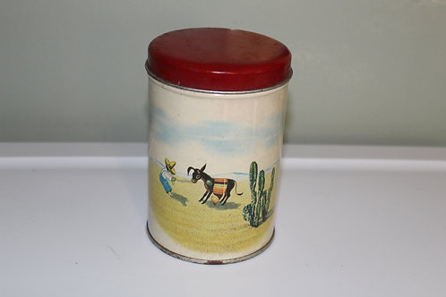 Vintage Coffee and Tea Tin Old Reliable 1947 Dayton Spice Mills Co Fiesta Ware