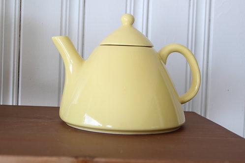 Vintage Mid Century Scandinavian Design Yellow Teapot