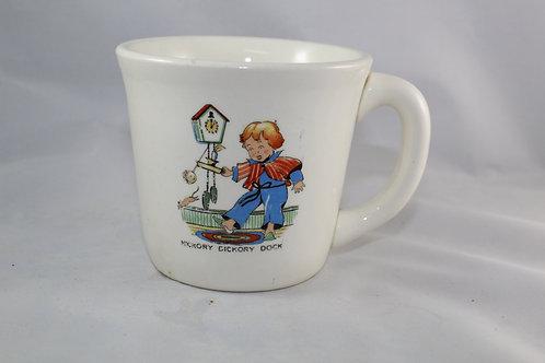 Antique Children's Nursery Rhyme Ceramic Mug Hickory Dickory Dock USA