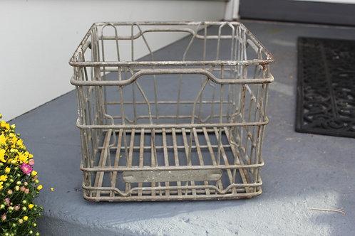 copy of Vintage Farmhouse all Metal Grey Sealtest Milk Crate
