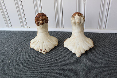Pair of Vintage Antique Salvage Cast Iron Clawfoot Bathtub Feet #202