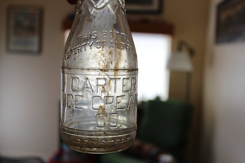 copy of Rare Vintage Glass Carter Ice Cream Co Bottle One Pint