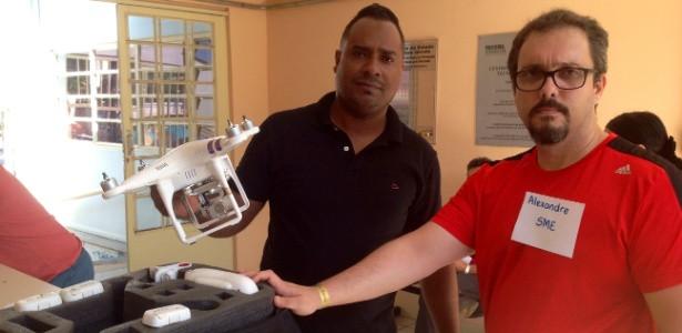 Empresário empresta drone