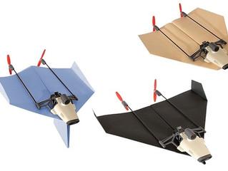 Drone tipo avião de papel transmite voo ao vivo pelo smartphone