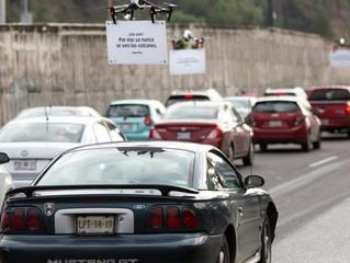 Uber usa drones para provocar motoristas presos no trânsito no México
