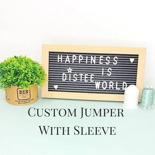 Custom Jumper With Sleeve