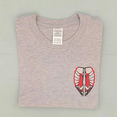 Sample Sale - Falcon Double Sided Grey M Tee