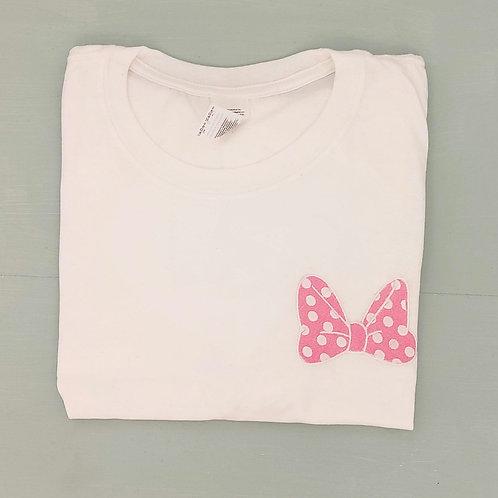 Sample Sale - Minnie Bow White L Tee