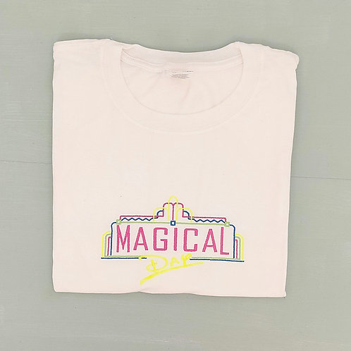 Sample Sale - Neon Magical Day White XL Tee