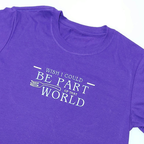 Not Perfect - Custom Small Size Purple T.shirt