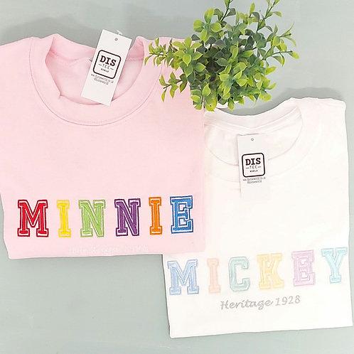 Multi Colour Mickey or Minnie Tee